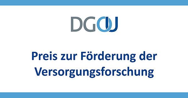 Logo DGOU Preis zur Förderung der Versorgungsforschung