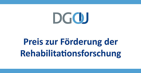Logo Preis zur Förderung der Rehabilitationsforschung